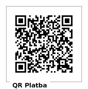 QR kód pro platbu na transparentní účet Pavla FIschera