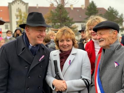 Pavel Fischer na oslavách 100. výročí založení Československa na Zbraslavi