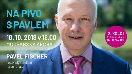 Pozvánka: Na pivo s Pavlem Fischerem – Modřanská Archa 10. října 2018