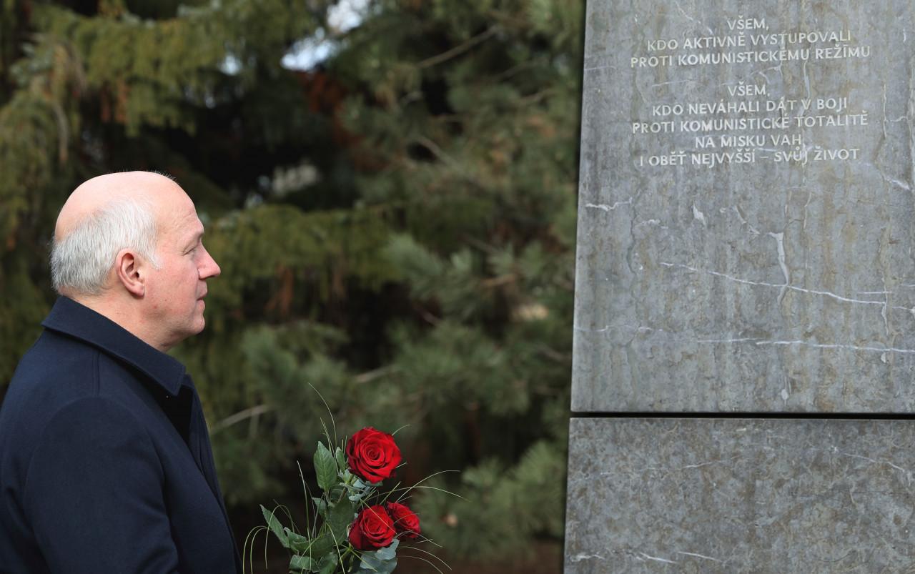 Pavel Fischer uctil památku protikomunistického odboje