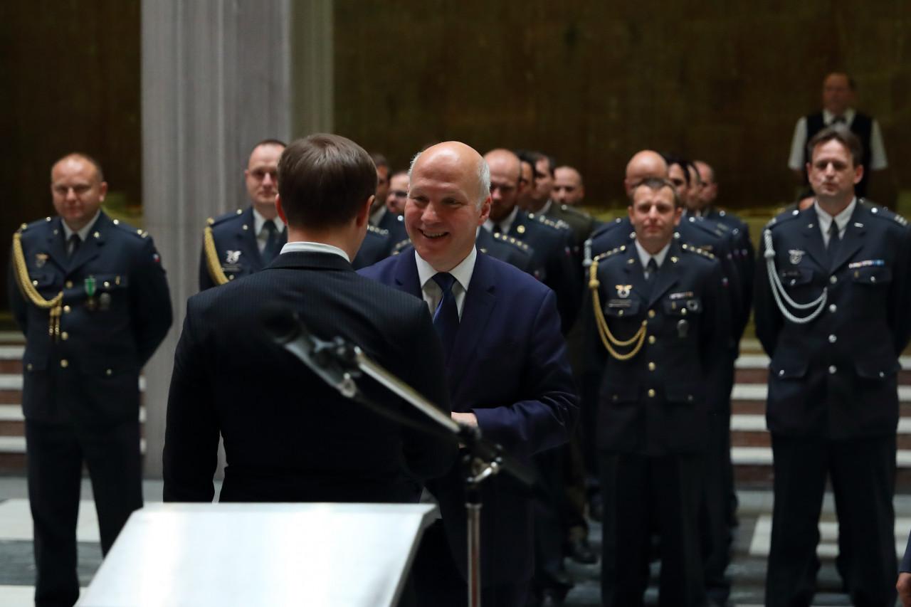 Pavel Fischer přivítal vojákyně a vojáky po návratu z Afghánistánu a Iráku