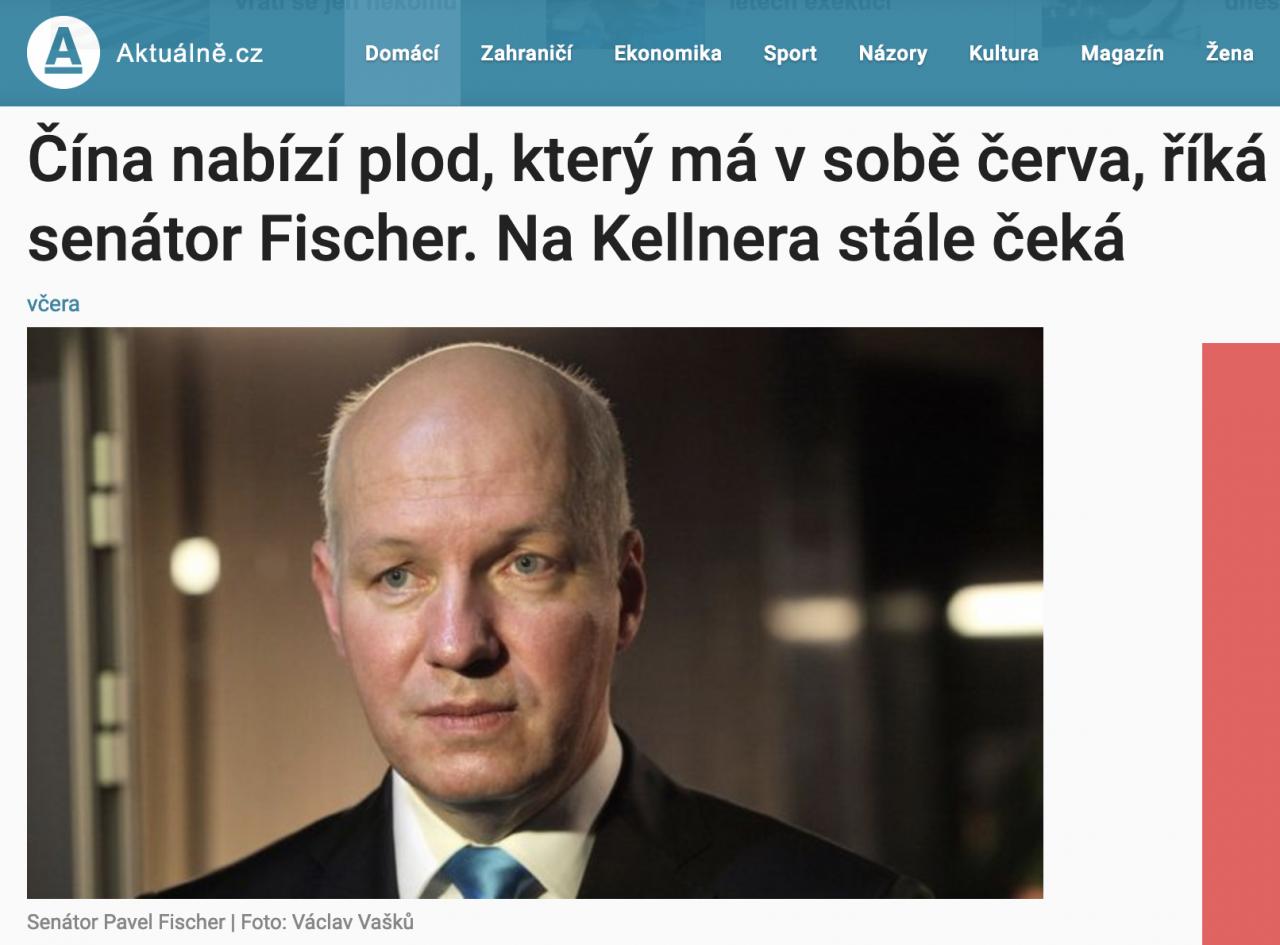 Rozhovor Pavla Fischera pro Aktuálně.cz: Čína nabízí plod, který má v sobě červa