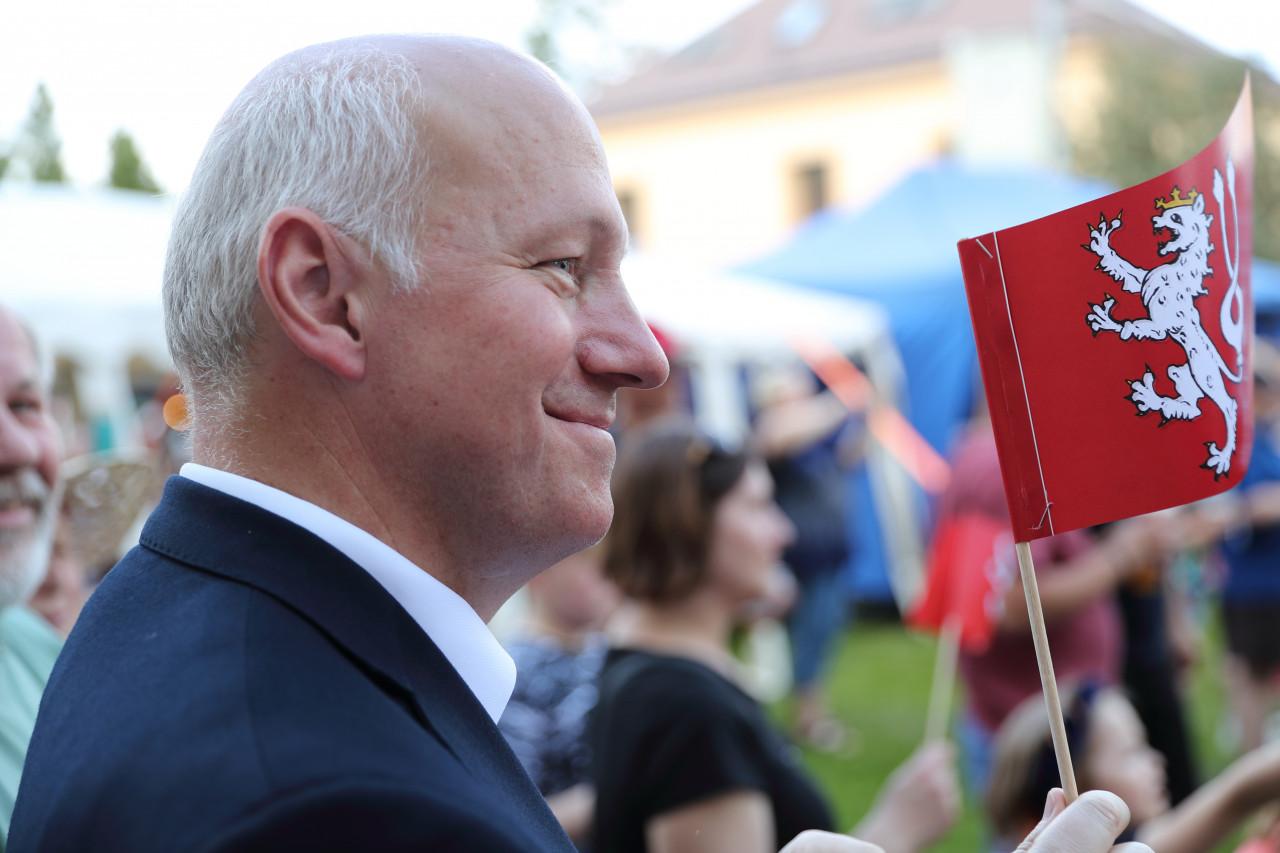 Pavel Fischer v Radotíně na Královském průvodu