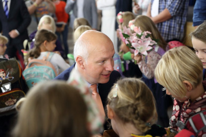Pavel Fischer zahájil nový školní rok v Radotíně