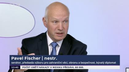 Pavel Fischer hostem Otázek Václava Moravce 23. srpna 2020